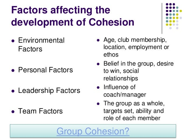 Task Make notes on strategies and methods for enhancing group cohesion pages 132 and 133