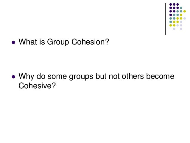   How does Cohesion develop over time?    What are the positive and negative consequences of cohesion?