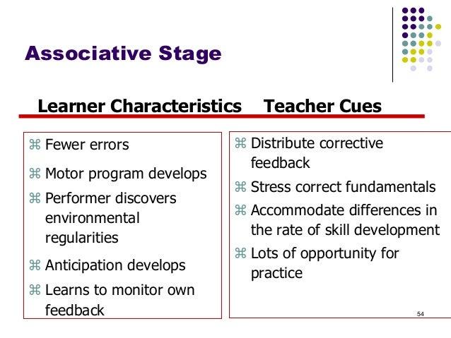 Autonomous Stage Learner Characteristics  Teacher Cues   Motor program become units of action   Focus on strategy   Dec...