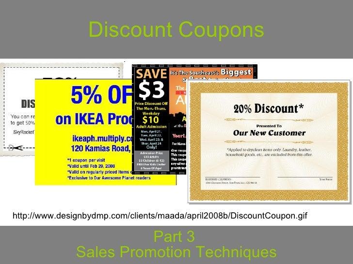 coupons as a sales promotion technique