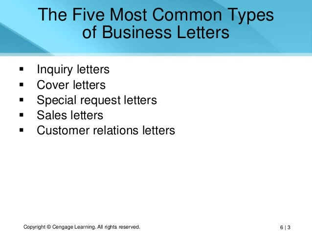 6 types of business letter