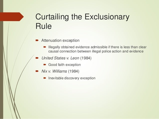 police and exclusionary rule applies The police) from using illegally obtained evidence in securing an arrest which is in  powell, 428 us 465 (1976) (exclusionary rule applied in a search, but.