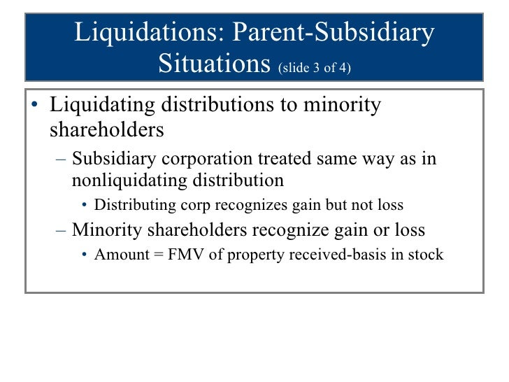 How corporations treat non-liquidating distributions from owner