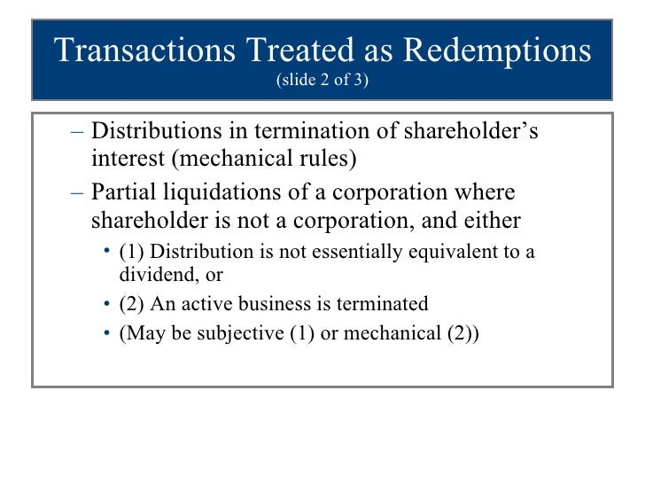 Corporate nonliquidating distributions problems with facebook