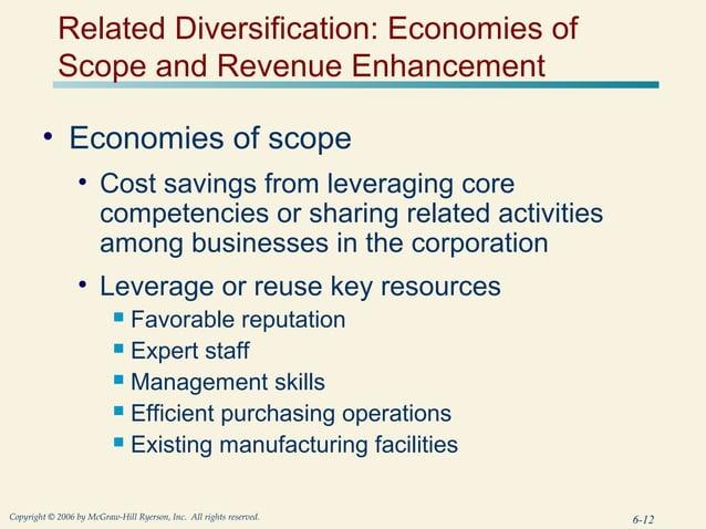 Related Diversification: Economies of            Scope and Revenue Enhancement        • Economies of scope                ...