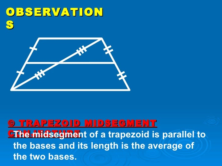 write a conjecture about the midsegment of a trapezoid