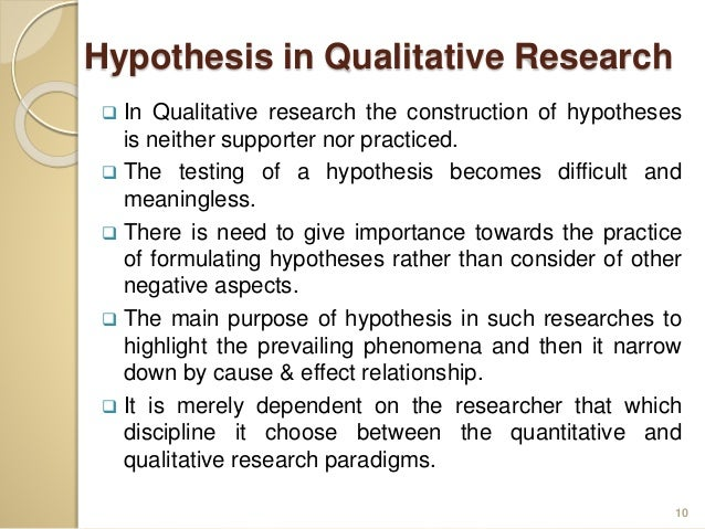 hypothesis in research methodology pdf