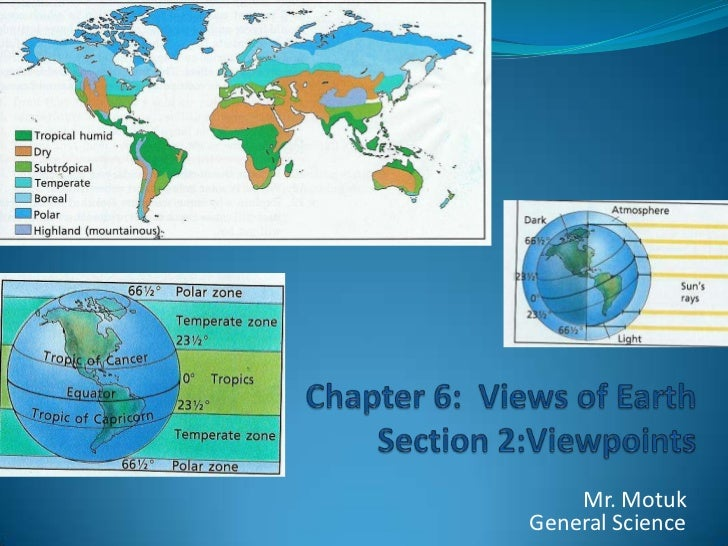 Chapter 6:  Views of EarthSection 2:Viewpoints<br />Mr. MotukGeneral Science<br />