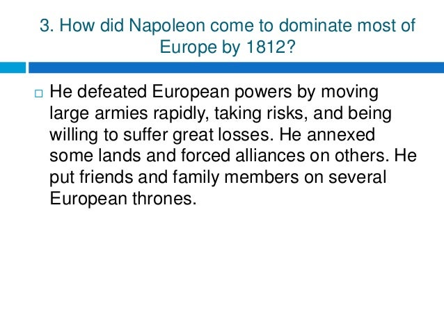 The Age Of Napoleon Chapter 6 Section 4 Answers