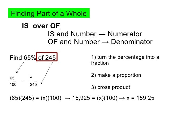 how to change a percentage into a number
