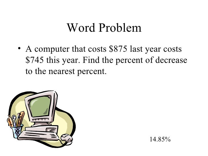Percent Of Change – Percent Increase and Decrease Word Problems Worksheet