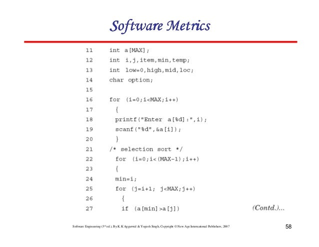Chapter 6 software metrics