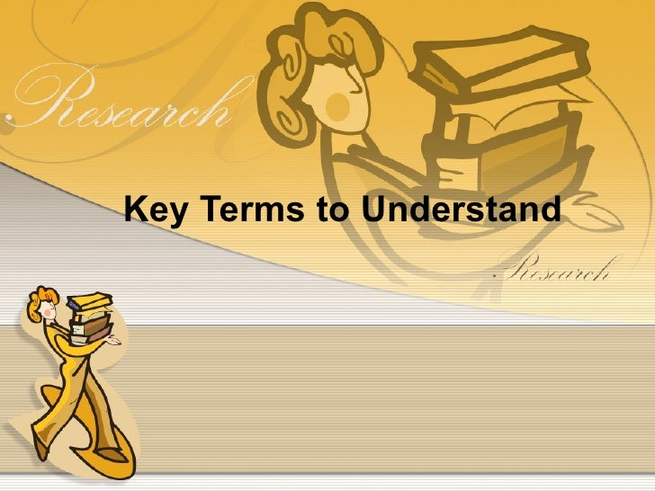 Key Terms to Understand