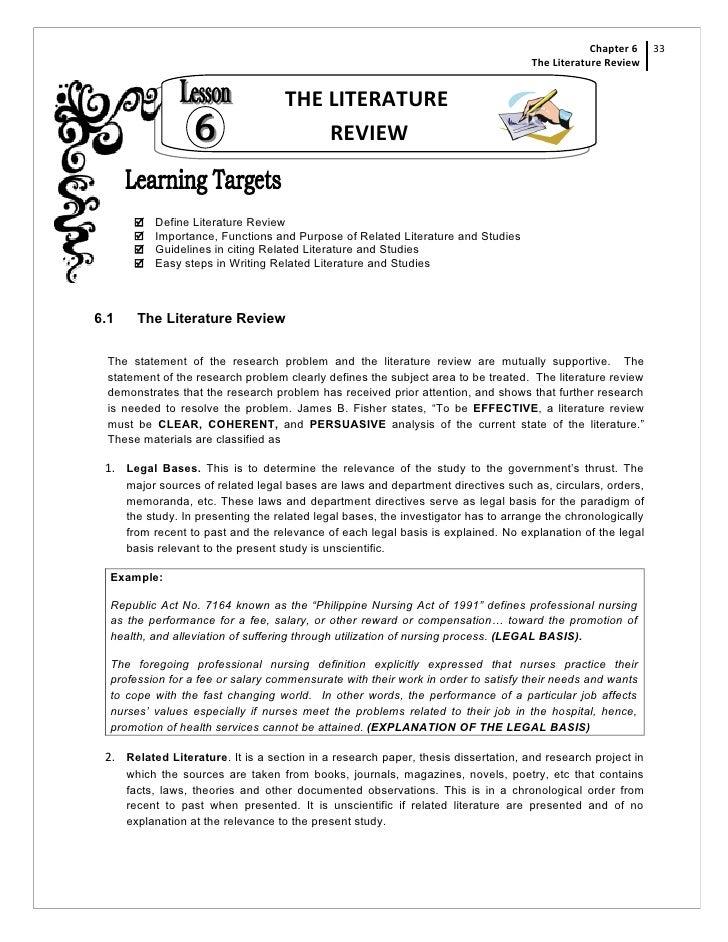 Research paper literature