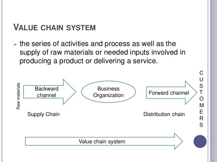 Value chain system essay