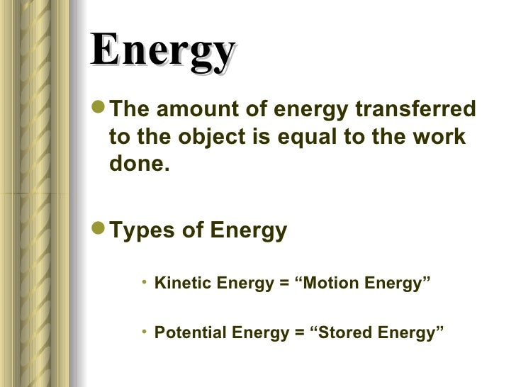 Chapter 6 Work Energy Power