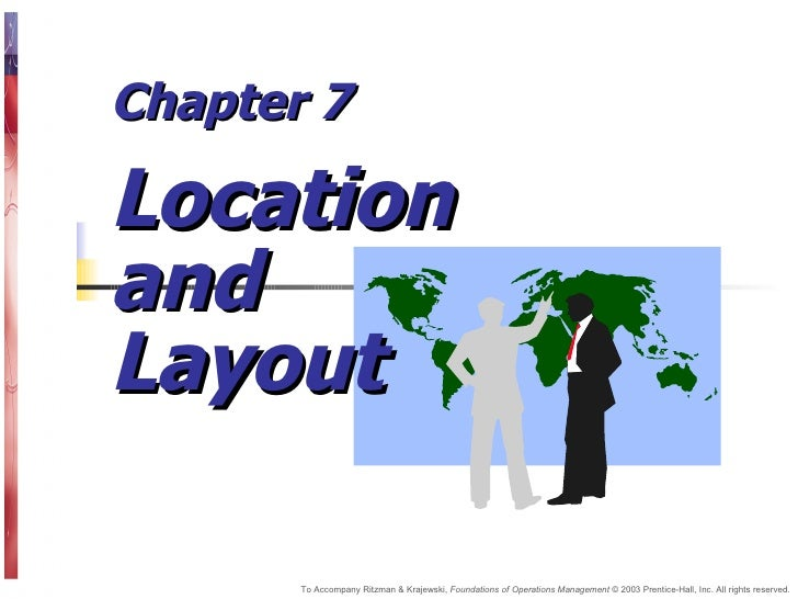 Chapter 7  Location and Layout