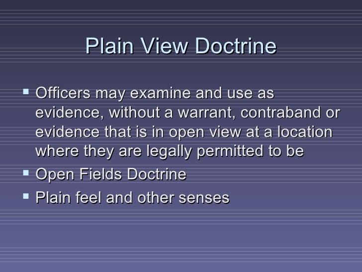 open view vs plain view