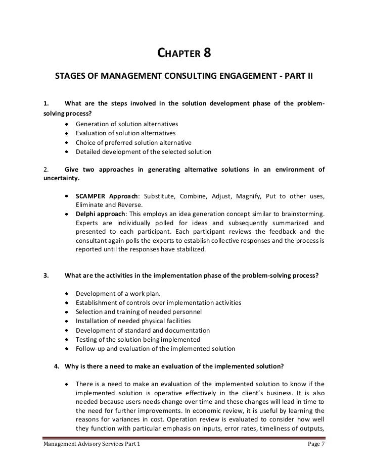 Management consultancy by cabrera solution manual