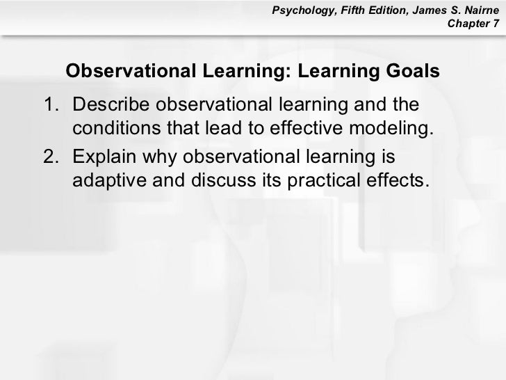 Observational learning and good will hunting