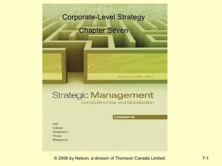 Corporate-Level Strategy            Chapter Seven© 2006 by Nelson, a division of Thomson Canada Limited.   7-1