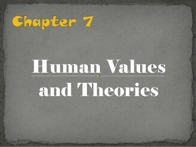 Human Valuesand Theories
