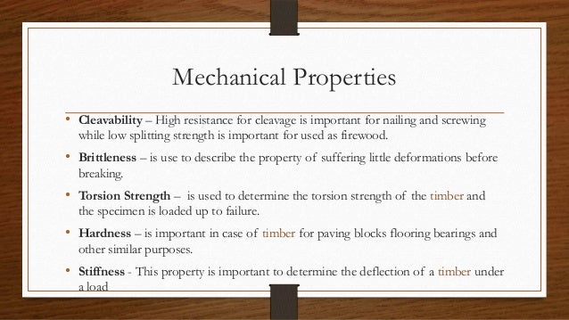 mechanical properties of timber pdf