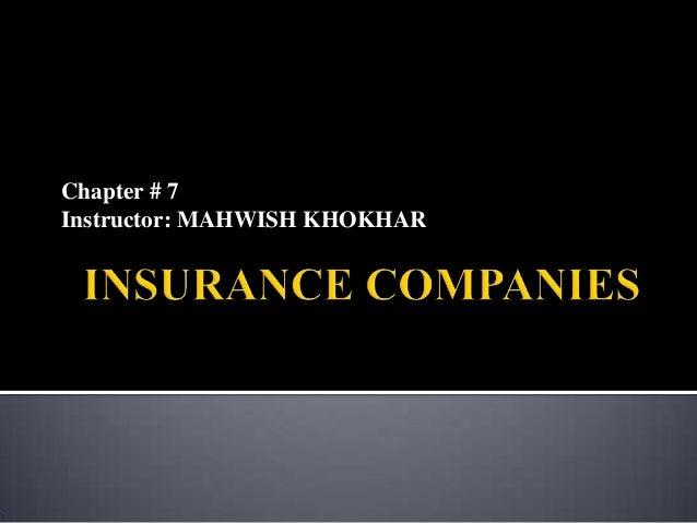 Chapter # 7 Instructor: MAHWISH KHOKHAR