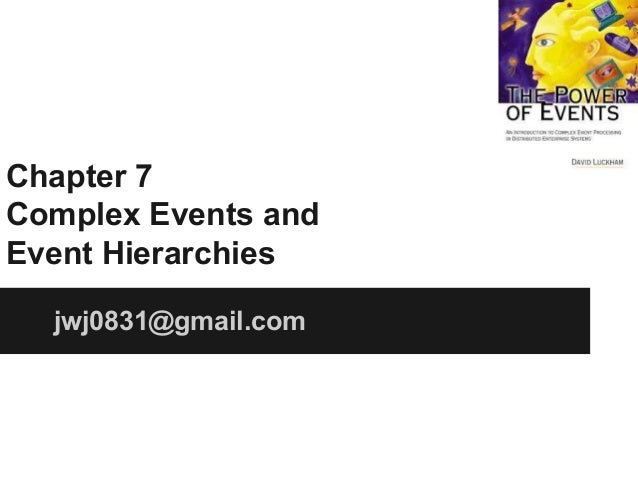 Chapter 7 Complex Events and Event Hierarchies jwj0831@gmail.com