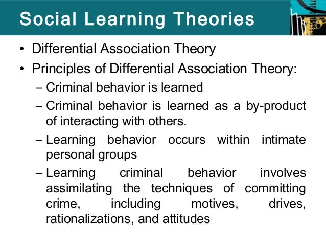 theories paper social learning theory Constructivist learning theory relation to theories of learning and knowledge learning is a social activity: our learning is intimately associated with our.