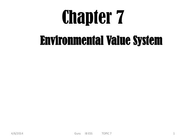 IB ESS Chapter 7.Environmental Value System