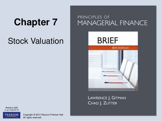 principle of managerial finance