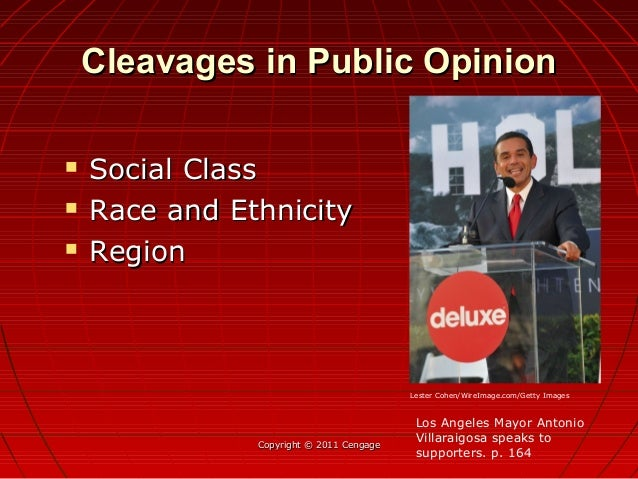 Cleavages in Public OpinionCleavages in Public Opinion  Social ClassSocial Class  Race and EthnicityRace and Ethnicity ...
