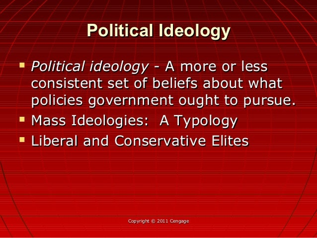 Political IdeologyPolitical Ideology  Political ideologyPolitical ideology - A more or less- A more or less consistent se...