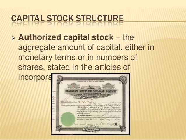 Use 'capital stock' in a Sentence