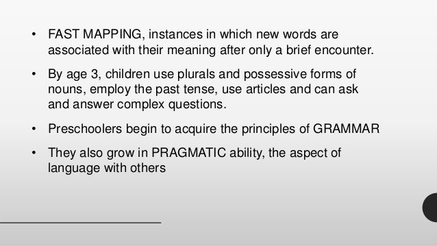 Chapter 7 language development