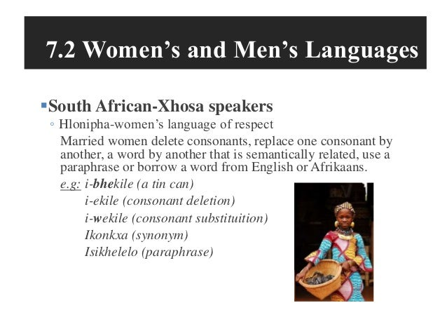 differences in men's and women's speech Abstract: this study aims to look at the differences in speech styles of  linguistic  differences between women and men, there do seem to be.