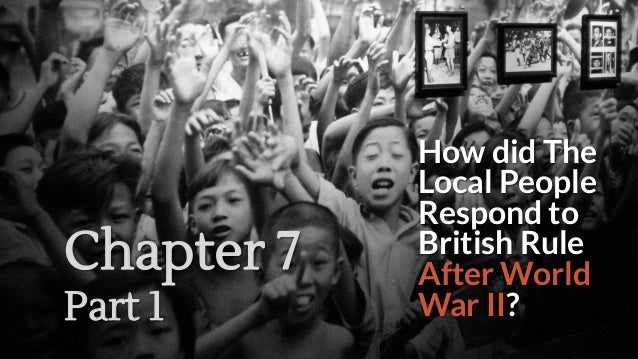 How did The Local People Respond to British Rule After World War II? Chapter 7 Part 1
