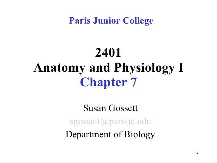 Chapter 7   Skeletal System Slide 2