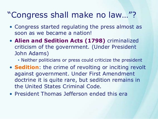 The question of whether the us first amendment is about free speech or ethical restraint
