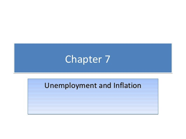 Chapter 7 Unemployment and Inflation