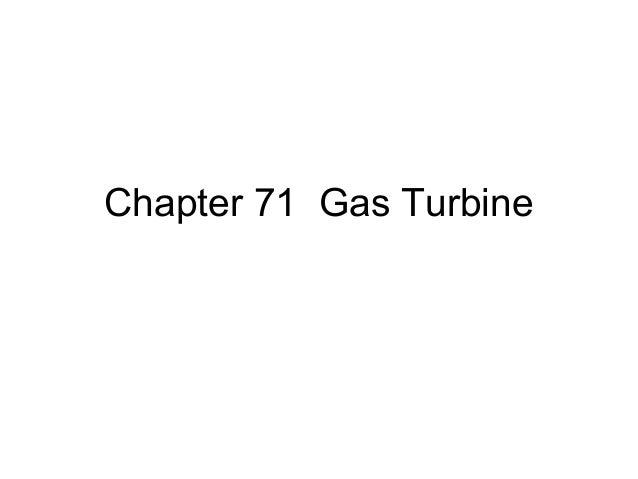 Chapter 71 Gas Turbine