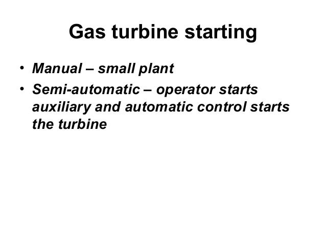 Chapter 71 gas turbine