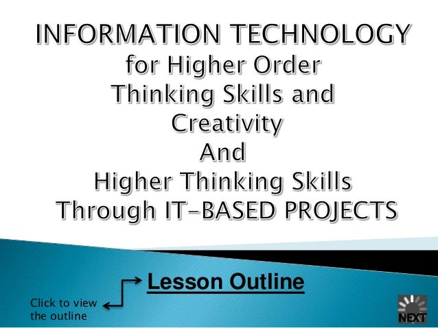 Lesson Outline Click to view the outline  NEXT