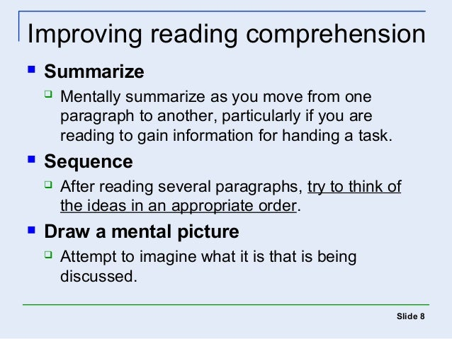 how to improve reading comprehension How can you help your child improve reading comprehension here are strategies for teaching your child with learning and attention issues reading comprehension at home.