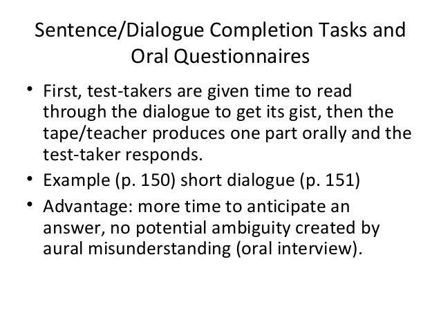 Language assessment chap. 7 assessing speaking. Basic types of.