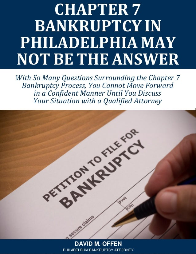 With So Many Questions Surrounding the Chapter 7 Bankruptcy Process, You Cannot Move Forward in a Confident Manner Until Y...
