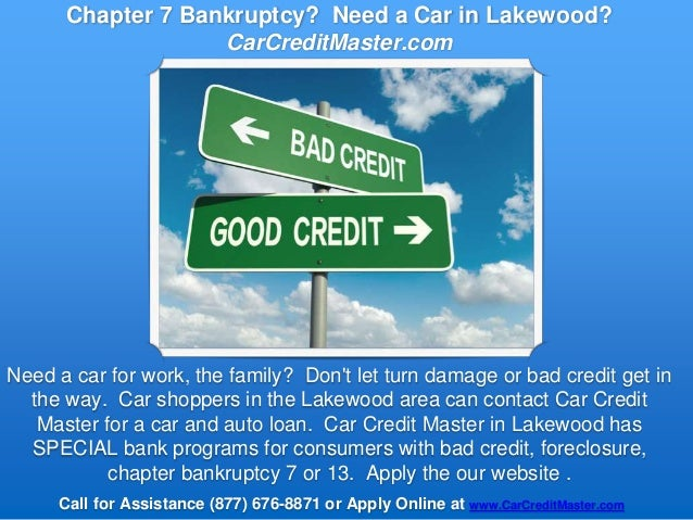chapter 7 bankruptcy need a car in lakewood co. Black Bedroom Furniture Sets. Home Design Ideas