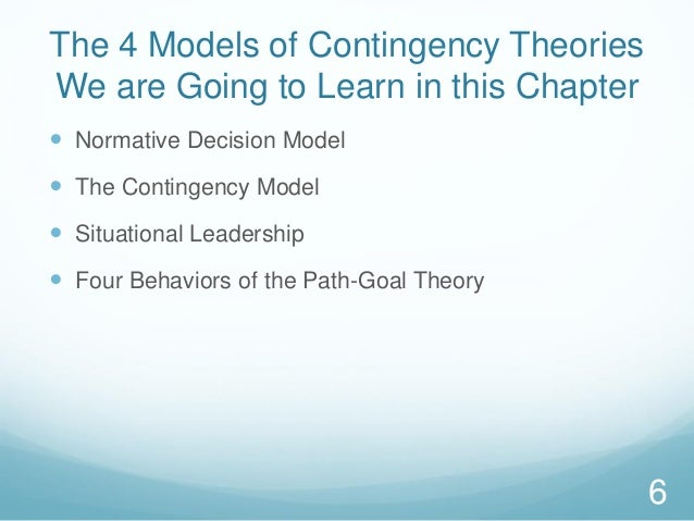 fiedler's contingency theory applied to nursing Journal of applied psychology 1969, vol 53, no 6, 513-517 a situational approach to leadership effectiveness walter fiedler's contingency model suggests that.