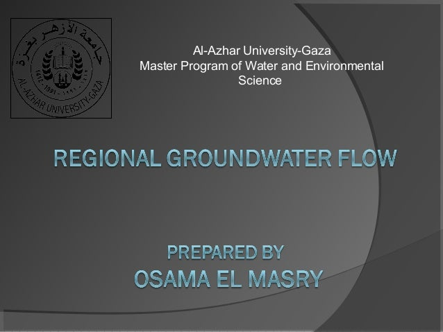 Al-AzharUniversity-Gaza MasterProgramofWaterandEnvironmental Science